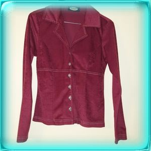 Vintage Jordache Fashion velour shirt button-down